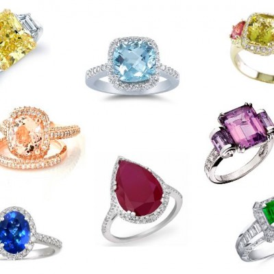 Many Colored Engagement Rings Types