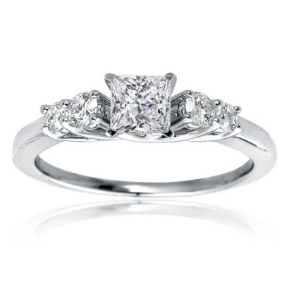 Mazal Engagement Rings Princess Cut Diamond