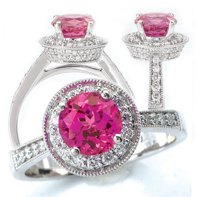 Model Pink Sapphire Engagement Ring Types