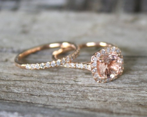 Morganite Etsy Engagement Rings Gold