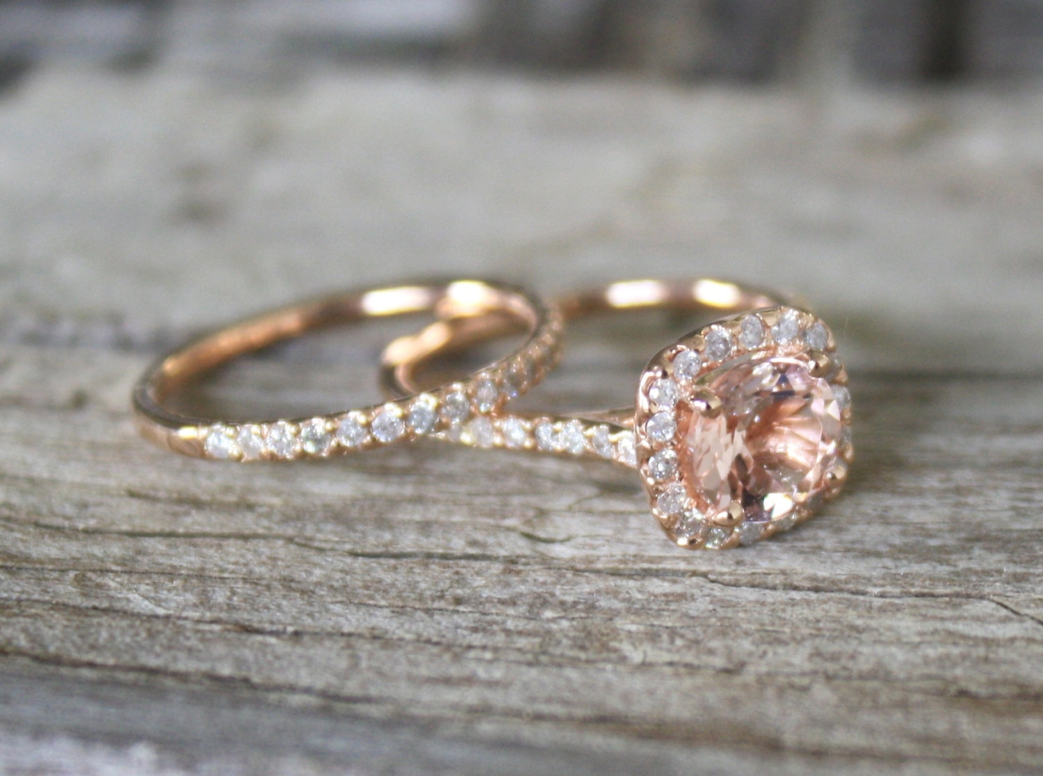 Etsy Engagement Rings Uk: morganite etsy engagement rings gold