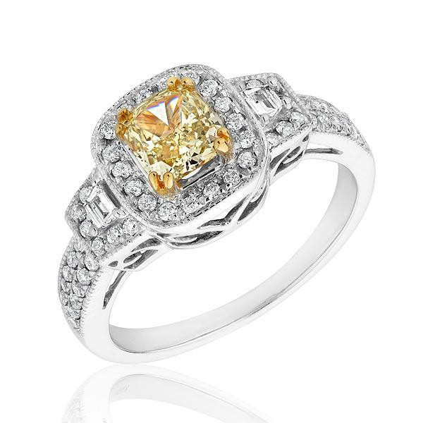 Canary Diamond Engagement Rings Uk: natural canary diamond engagement rings design
