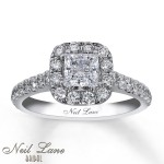 neil engagement rings princess cut design