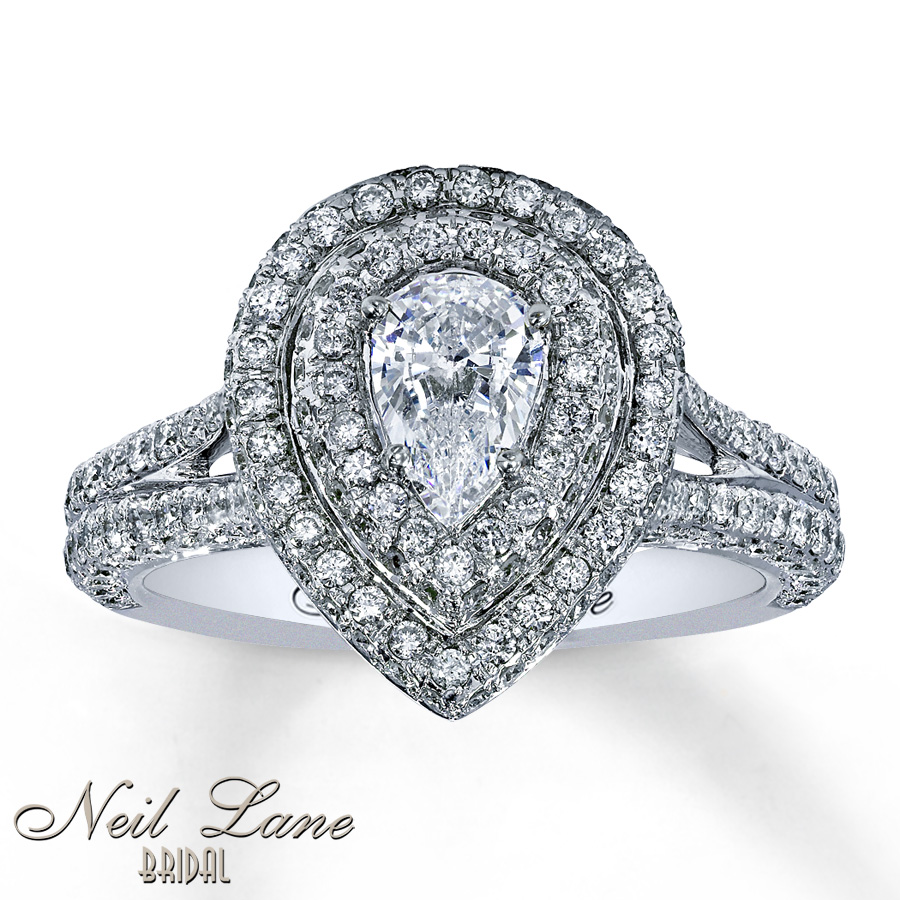 Pear Engagement Rings Canada: neil pear engagement rings design