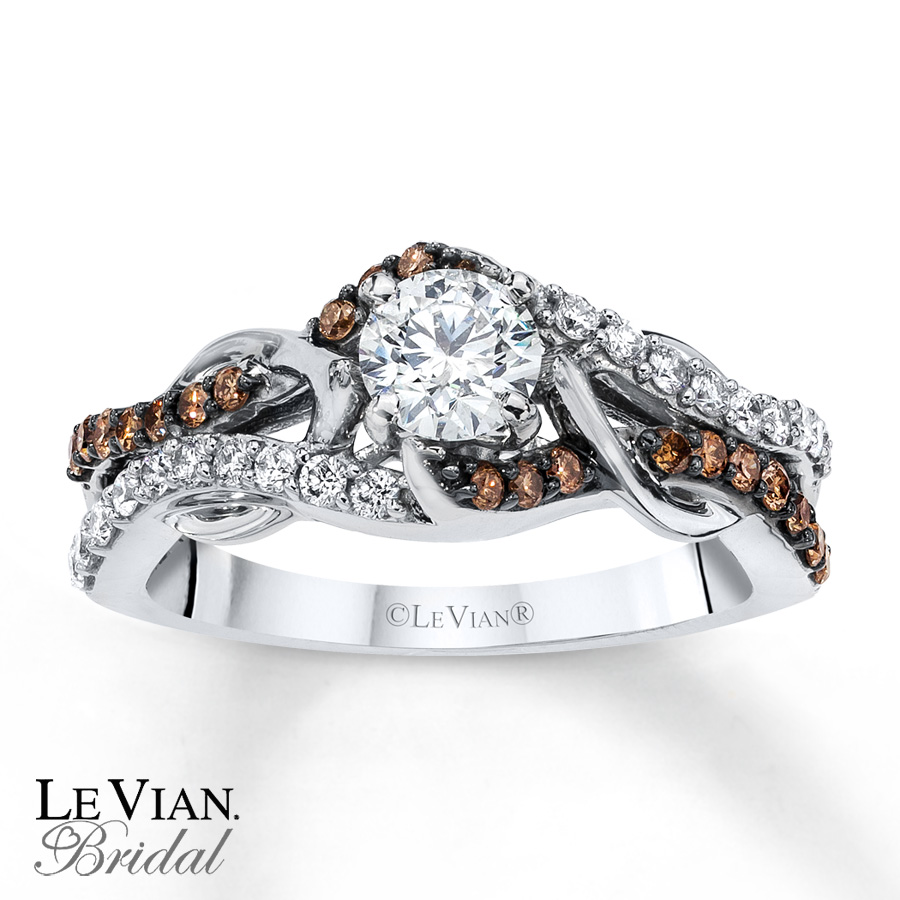 Chocolate Diamond Engagement Ring Sets: new chocolate diamond engagement ring style