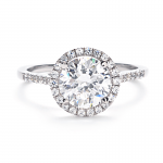 new halo diamond engagement ring collection