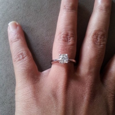 New Thin Band Engagement Ring Style