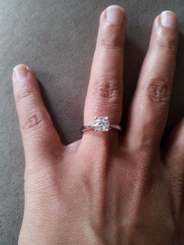 Engagement Rings New Thin Band Engagement Ring Style