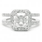 nine asscher cut engagement ring elle