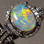 old opal engagement ring style