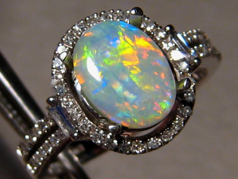 Opal Engagement Ring Set: old opal engagement ring style
