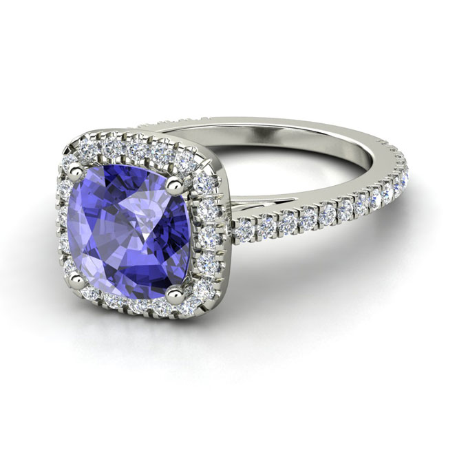 Tanzanite Engagement Rings Etsy: olivia tanzanite engagement rings cushion