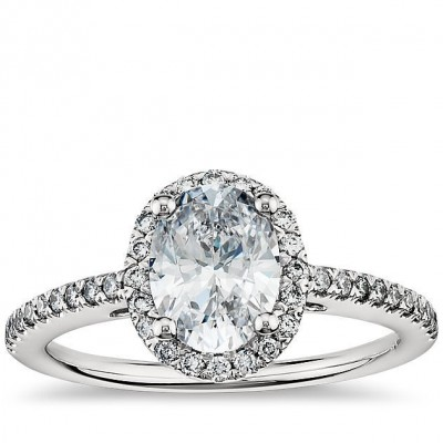 Oval Blue Nile Engagement Rings Halo