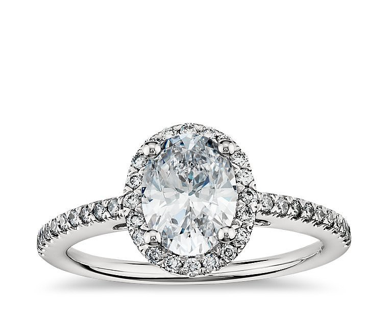Blue Nile Engagement Rings Reviews: oval blue nile engagement rings halo