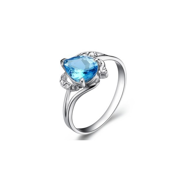 Blue Topaz Engagement Rings Meaning: oval blue topaz engagement- rings shaped