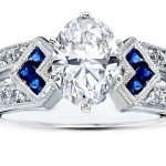 oval diamond and sapphire engagement rings diamond