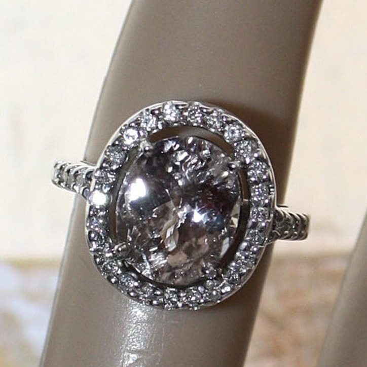 Non Traditional Engagement Rings Cost: oval non traditional engagement rings pearl