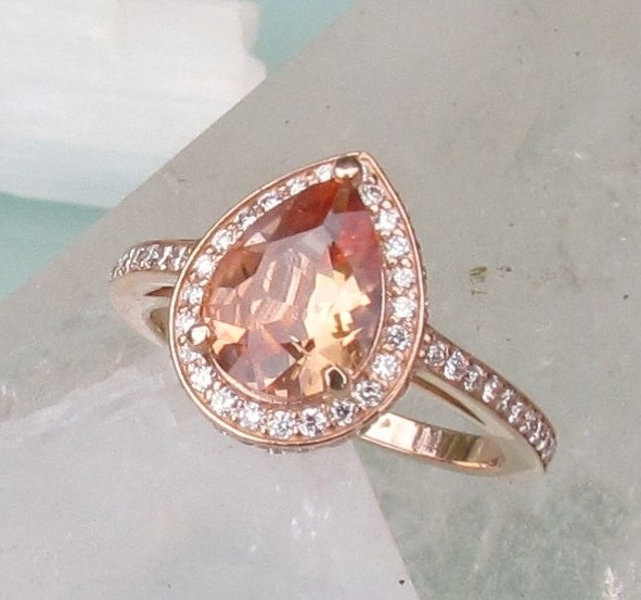 Peach Shire Engagement Rings Uk Oval Style