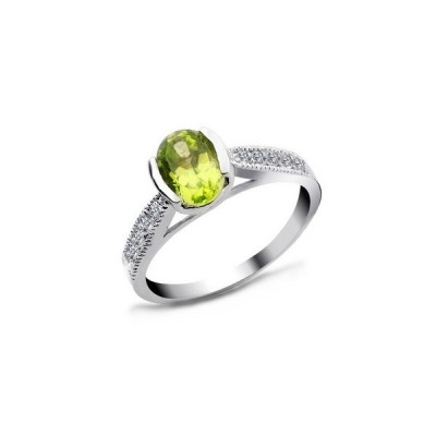 Oval Peridot Engagement Rings Shaped