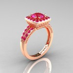 peach pink sapphire engagement ring color