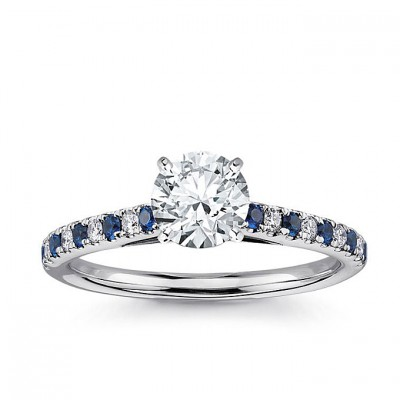 Petite Blue Nile Engagement Rings Blue