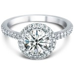 pettie halo engagement ring diamond