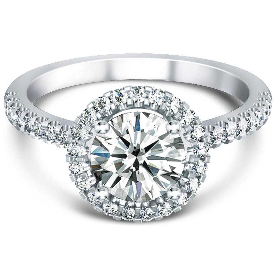 Halo Engagement Ring Zales: pettie halo engagement ring diamond