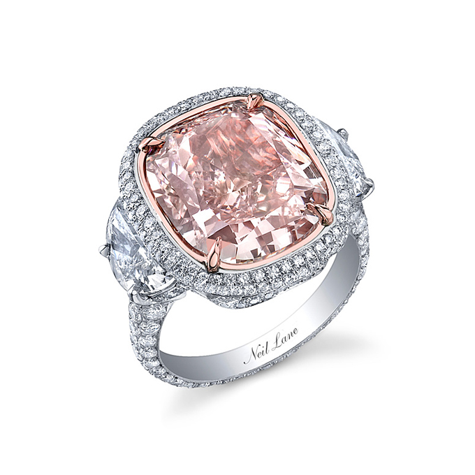 Colored Engagement Rings Trend: pink colored engagement rings design