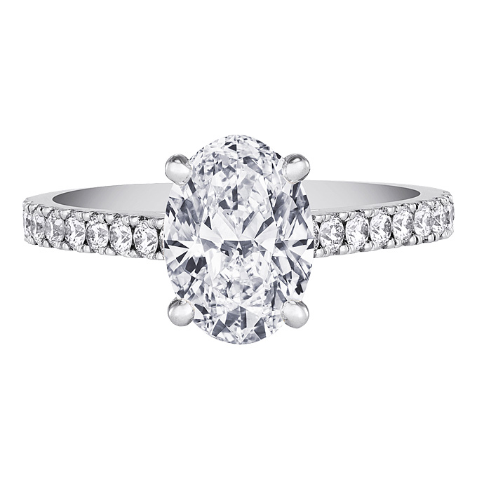 Oval Cut  Engagement Rings for Sale: platinum oval cut engagement rings materiL