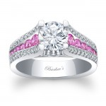 princess pink sapphire engagement ring cut