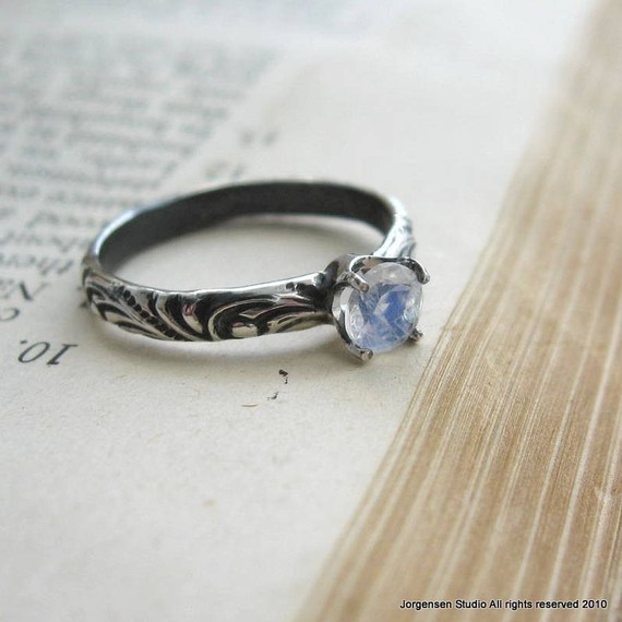 Moonstone Engagement Rings Etsy: promise moonstone engagement rings ring