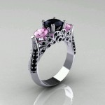 purple non traditional engagement rings design