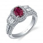 red colored engagement rings design
