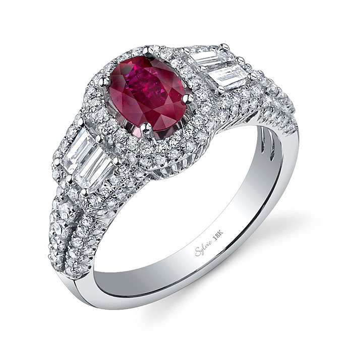 Colored Engagement Rings Trend: red colored engagement rings design