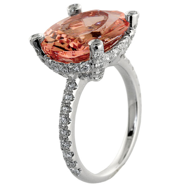 Colored Engagement Rings Trend: red colored engagement rings round