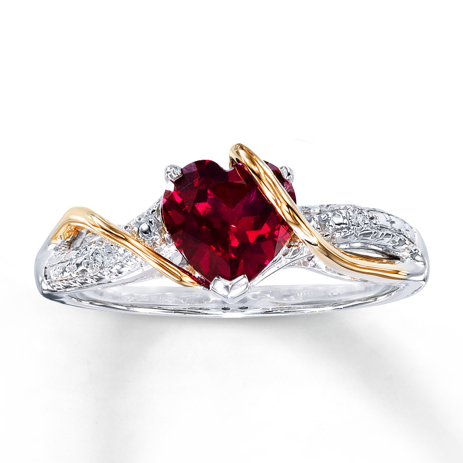 Lab Created Diamond Engagement Rings Sale: red lab created diamond engagement rings love