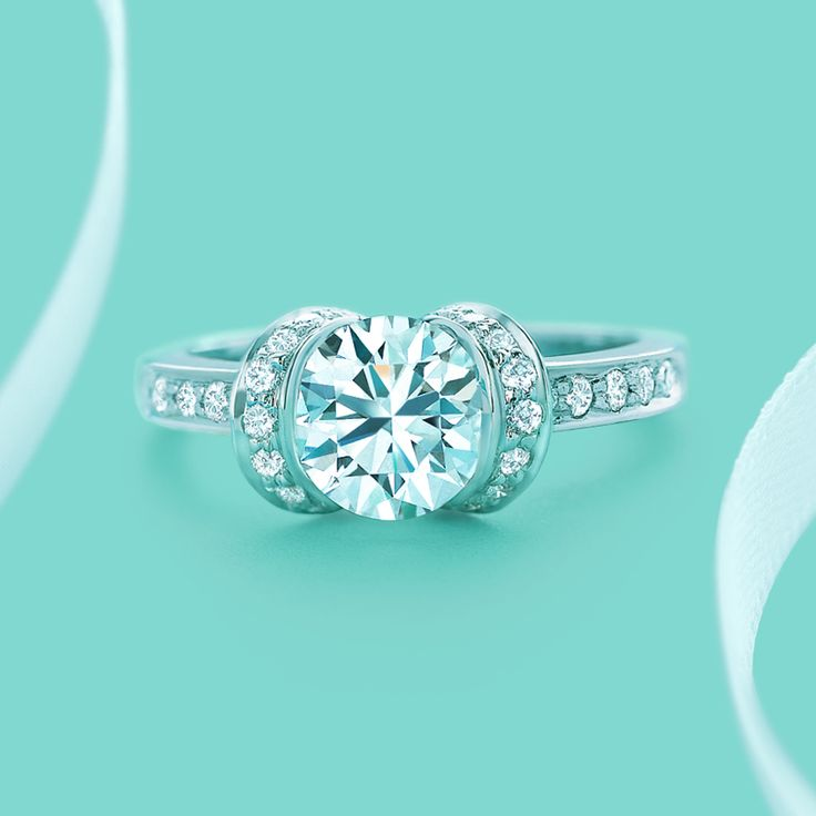 Engagement Rings Tiffany Setting: ribbon engagement rings tiffany design