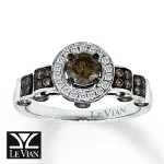 round chocolate diamond engagement ring design