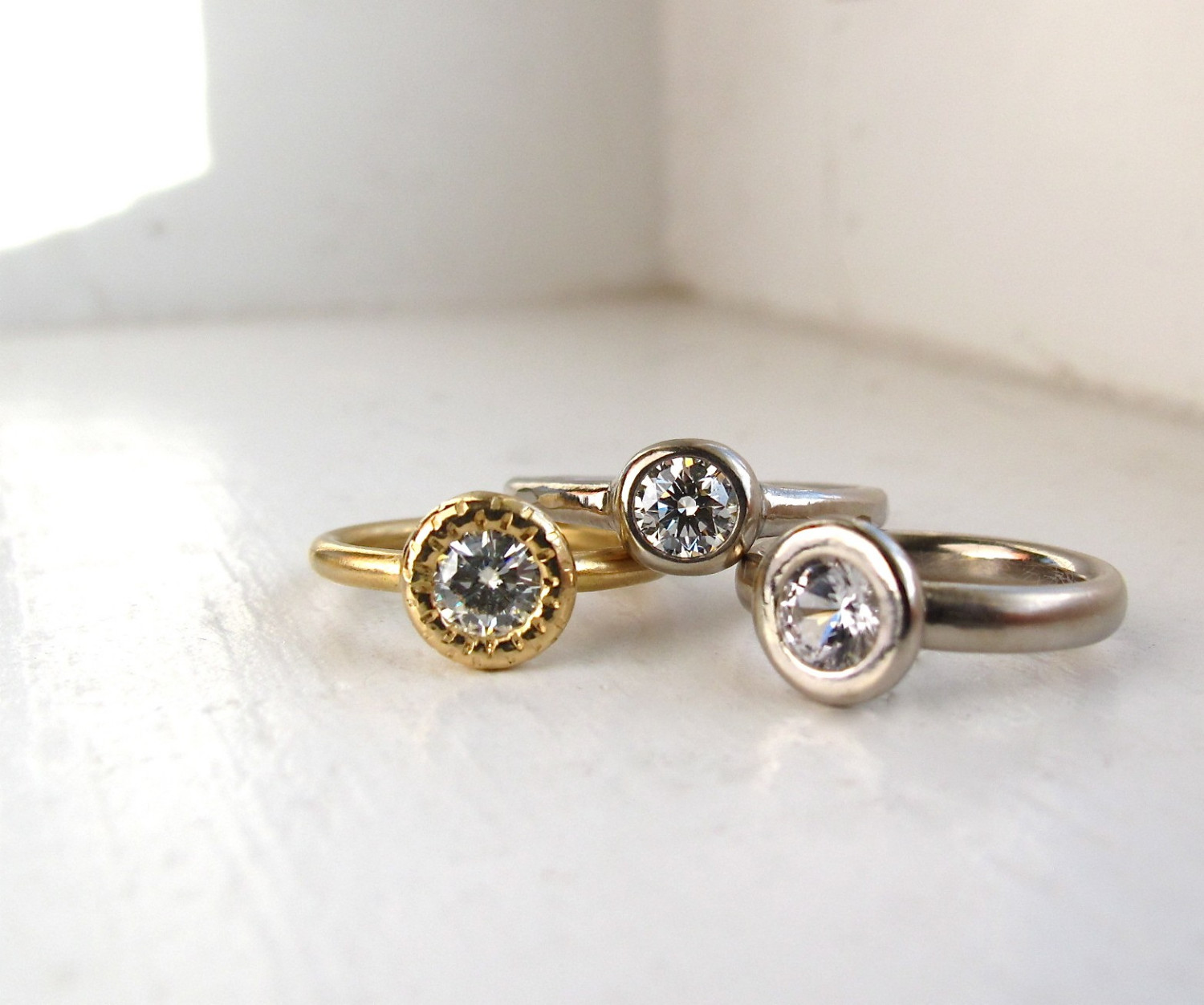 Etsy Engagement Rings Uk: round etsy engagement rings gold