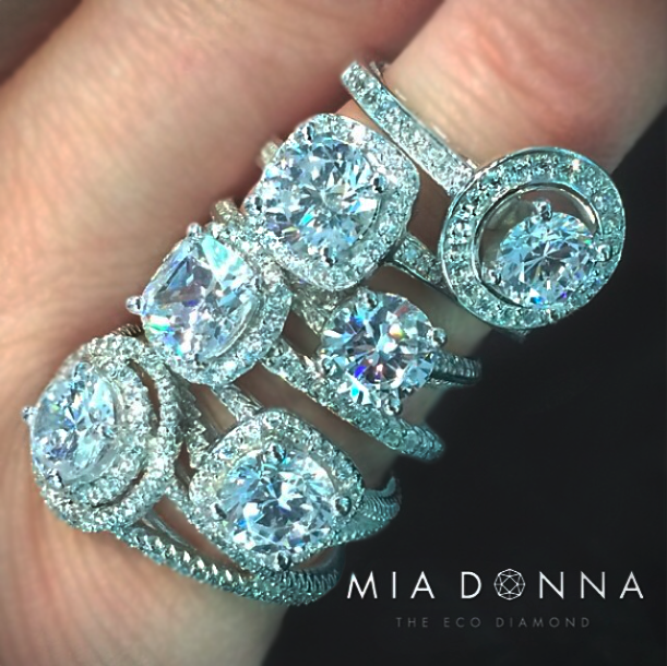 Lab Created Diamond Engagement Rings Round Cut