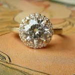 round non traditional engagement rings gold
