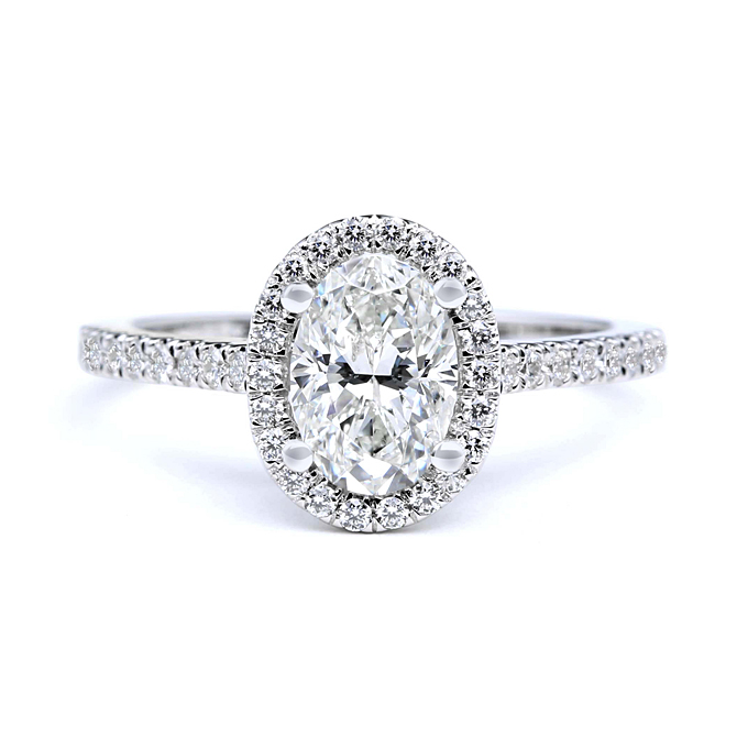 Oval Cut  Engagement Rings for Sale: round oval cut engagement rings style