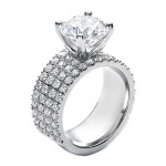 round pave engagement rings design