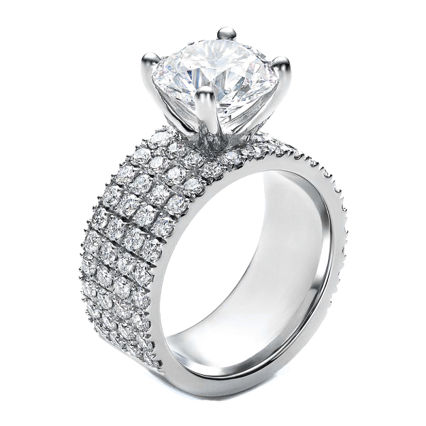 Pave Engagement Rings Meaning: round pave engagement rings design