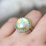round turquoise engagement rings cut