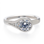 sholdt bezel engagement ring design