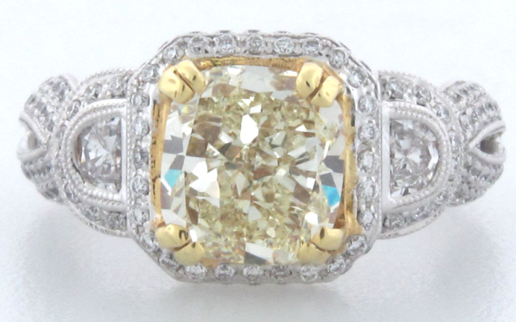 Canary Diamond Engagement Rings Uk: silver canary diamond engagement rings platinum