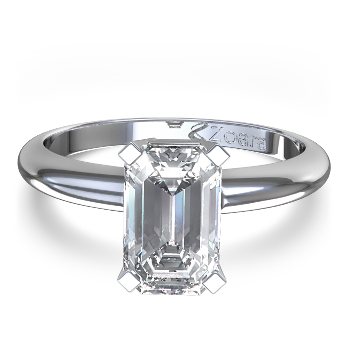 Emerald Cut Engagement Ring Meaning: simple emerald cut engagement ring ideas