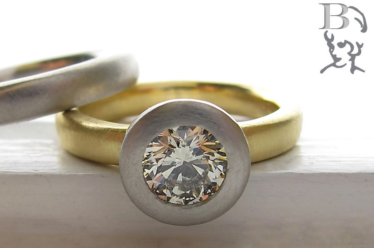 Etsy Engagement Rings Uk: simple etsy engagement rings round