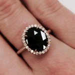simple non traditional engagement rings oval